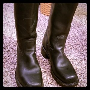 Authentic FRYE TALL BLACK BOOTS